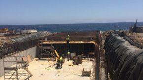 Rain gutter for the port of Granadilla executed at the Granadilla de Abona terminal (COSTADRAGO)